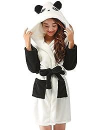 OCHENTA Unisexe Femme Peignoirs de Bain Animal Cosplay Mi-long Avec Capuche Robe de Chambre Nuit Pyjama