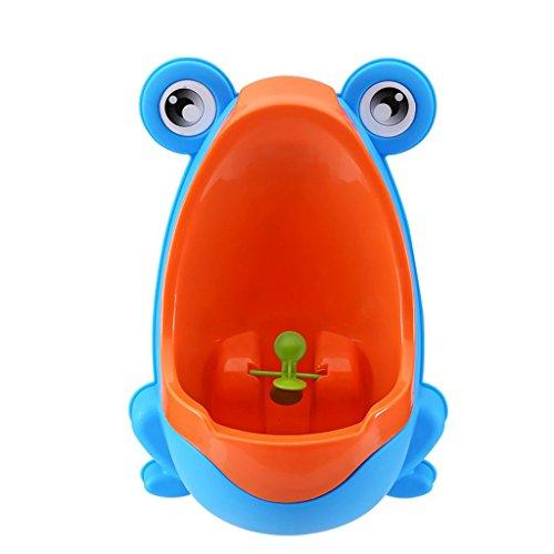 Kunststoff-Urinal für Jungen, tragbar himmelblau (Boden-ring Freistehender)
