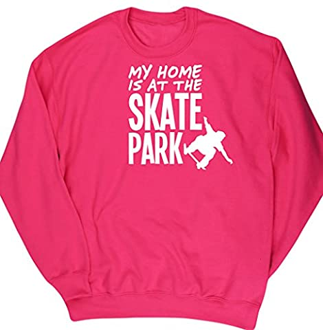 HippoWarehouse - Sweat-shirt - Homme - rose - Large