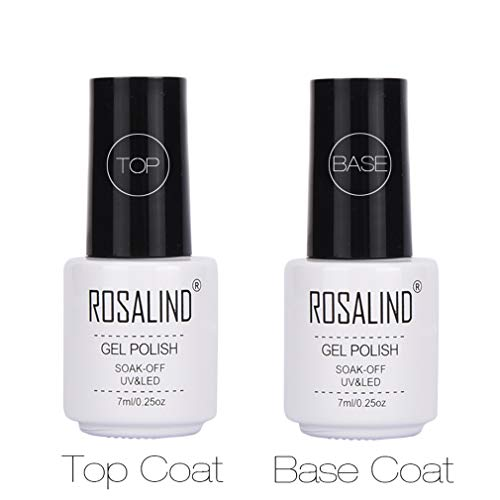 ROSALIND 2PCS top coat base coat Esmalte Semi-permanente