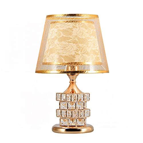 Kristall Tischlampe Europäischen Kreative Nachttischlampe Geeignet Für Schlafzimmer Wohnzimmer Hotel Dekorative Beleuchtung,Gold