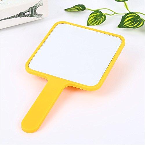 Heylookhere Nettes Spielzeug Mini-Quadrat-Form-Karikatur-Muster-Handspiegel-kleine Glasspiegel für...
