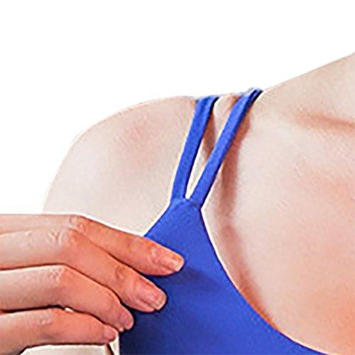 iBaste Sexy Soutien-gorge Sport Lingerie Femme Brassière Sans Armature Double Croisés Bleu