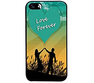 Fuson Premium Love Forever Metal Printed with Hard Plastic Back Case Cover for Apple iPhone SE
