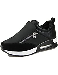 OUOUVALLEY Basket mode haut compensé femme chaussure casuel moderne synthétique sportif