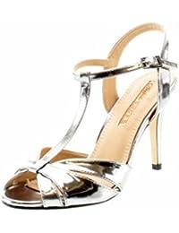 Buffalo 312702 Pewter - Sandalias de vestir para mujer