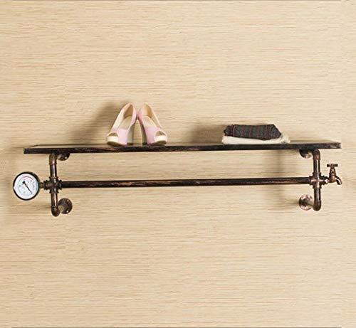 WENYAO Kleiderständer Retro Holz Kleidung Shop Display Stehen Eisen Kreativität Wand Kleiderbügel Handtuchhalter Größe: 33 * 32 * 123cm (Stehen Eisen-kleidung)