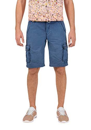 12 Pocket-cargo-shorts (Timezone Herren Loose MaguireTZ Cargo incl. Belt Shorts, Blau (Washed Indigo 3411), W29 (Herstellergröße: 29))