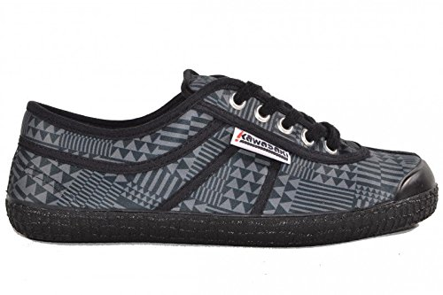 Kawasaki Basic Geo X3 Black/Black scarpe, Sneaker, Nero (Nero), 37 EU
