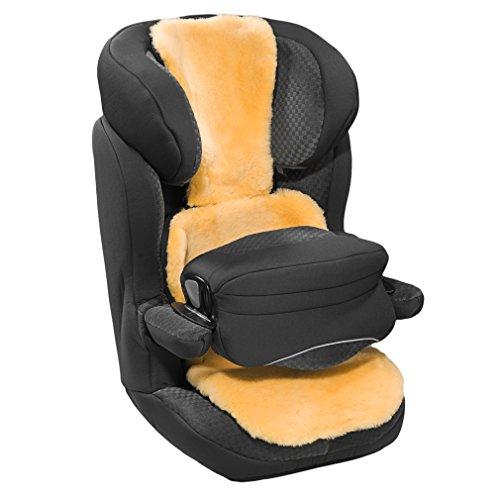 CHRIST Lammfell Buggy- und Autositzauflage – Kindersitzunterlage, Lammfelleinlage aus echtem medizinischem Fell, für Kinder und Babys, längenverstellbar, Größen: Kindersitze der Gruppe 2-3