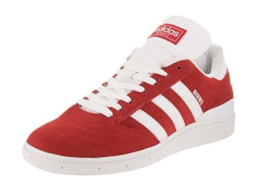 Adidas Mens Busenitz Suede Trainers Scarlet Footwear White