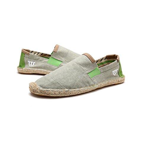 ba2572c424d Entrenador XUEQIN Alpargatas Hombres Elásticos Fit Cosidos A Mano Lino  Suela Ocasionales Zapatos De Lona Para