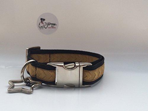 hundehalsband-chevron-gold-28cm-43cm