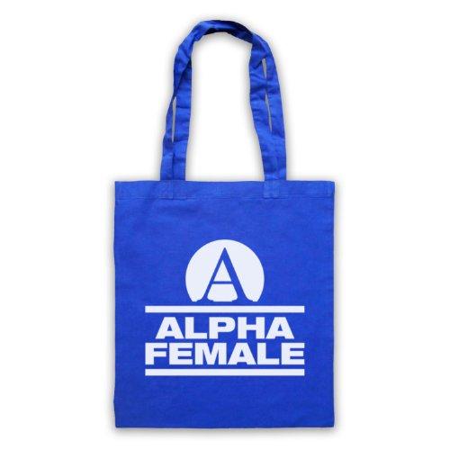 Alpha femmina Fitness Slogan borsa custodia Blu
