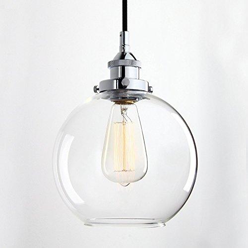 Leuchten Glasschirm Für Die (Lightess E27 Industrial Retro kronleuchter , Klassische Vintage Edison Loft Pendelleuchten Antik Deko Design Hängelampe mit Glas Schirm für die Bar, Insel, Küche, Büro und mehr)
