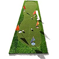 CN Ejercitador de Putter para Interiores Y Exteriores - Golf Greens - con una Manta de Práctica para el Putter de Garrapatas - Tapete de Bola - Tapete de Velocidad de Bola Rápida,UNA,Un tamaño