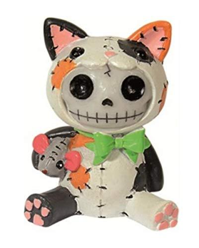 Horror-Shop Kleine Calico Mao Mao Figur - Skelettfigur für Sammler von Furrybones Figuren