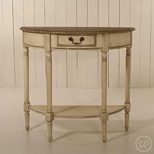 vintage painted halbrunder tisch ideal f r den flur. Black Bedroom Furniture Sets. Home Design Ideas