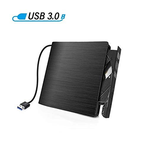 Antika Masterizzatore DVD Externo Unità CD Esterna USB 3.0 DVD/CD+/- RW Dispositivo Lettore di Schede Portatile External Disc Compatibile con Mac/OS/XP/Vista/Linux/Win7/Win8..
