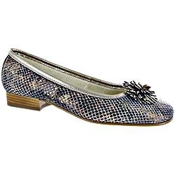 Riva La Plaque Ballerina women's Shoes Bronze Size 39
