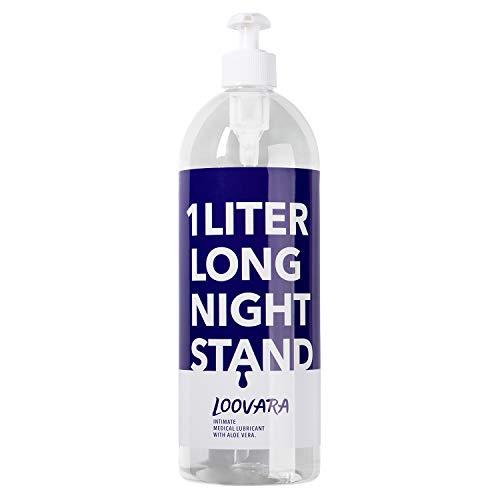 Loovara Gleitgel XXL wasserbasiert (1000ml) mit Aloe Vera für sensible Haut, Gleit und Massagegel Wasserbasis 1 Liter, kondomgeeignet, ergiebige Vorteilspackung mit Pumpspender