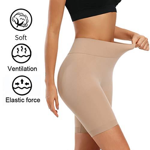 Joyshaper Miederhose Bauch Weg Stark Formend Shapewear Damen Miederpants mit Bein Hohe Taille Figurformende Shaping Unterwäsche (Beige, Large) - 5