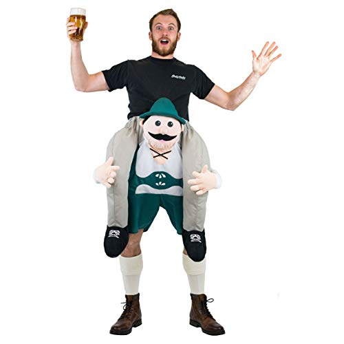 Bodysocks® Lederhosen Huckepack (Carry Me) Kostüm für Erwachsene (Huckepack Fancy Dress Kostüm)