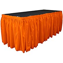 3bf20cfbfdd4 La Mariée Jupe de Table en Lin avec 10 l-Clips, Satin, Orange
