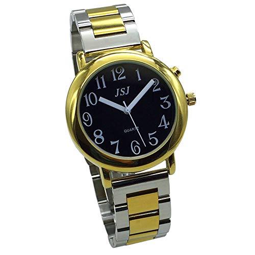 TUF-G605 - Reloj parlante analógico con Alarma, Anuncio de Hora y...