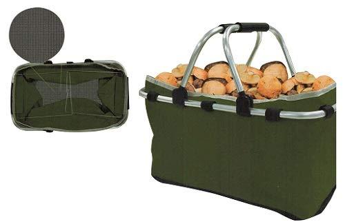 Bolsas cesta hongos verde con fondo de malla con asas
