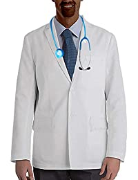 ViVy Shawl Collar Full Sleeve Short Length Doctor Coat lab Apron (36)