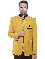 Chaqueta sport Mandarin Nehru de fiesta hecho de Bandhgala algodón y rayón para hombre Wintage - Disponible en 20 colores
