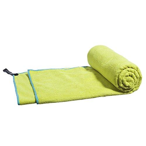LightDRY Mikrofaser Handtuch Reisehandtuch für Sport und Trekking, Extra saugfähig & antibakteriell, 80x40cm, Grün
