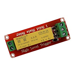 F Fityle 3-32VDC 1CH 5A Relay Module High Level for Arduino Uno R3 PIC ARM DSP AC