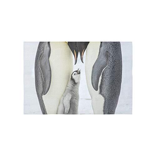 ungry Emperor Penguin Chick Between Parents, Wandbehang Blume Psychedelic Wandbehang indische Wohnzimmer-Dekoration für Wohnzimmer Schlafzimmer 152,4 x 101,6 cm ()