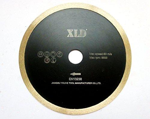 XLD BLADE Presionado fría XLD borde continuo de hoja de sierra, perfecta para cortar la baldosa cerámica, granito, mármol, etc., Grado A, 4,5 pulgadas By XLDTOOL ( Size : 115*1.8*5*22.23mm )