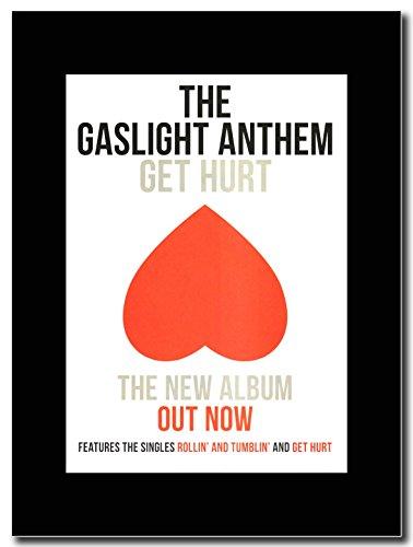 Gaslight Anthem-Get male Magazine Promo su un supporto, colore: nero
