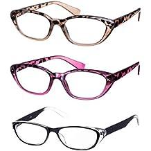 Lote de 3 Gafas de Lectura / Anteojos Forma Mariposa Montura de Plástico