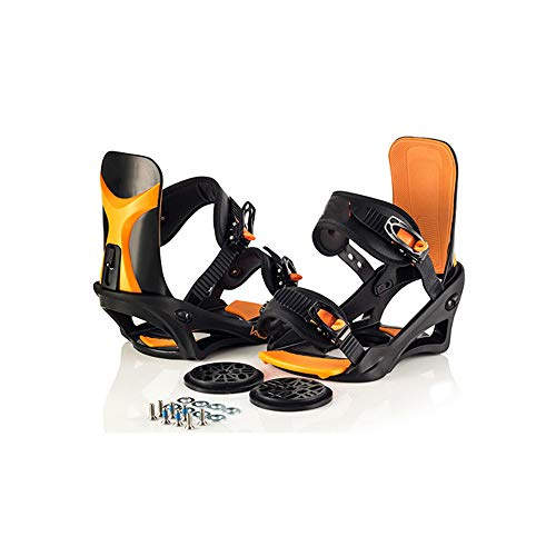 Jghjh Skischuhe Snowboardausrüstung-Snowboardbindungen Allround-Fixer Freestyle Fixer,Orange,L