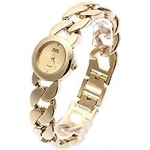 Sheli Donna Luxury Gold Tone in acciaio inossidabile impermeabile al quarzo Bracciale orologio