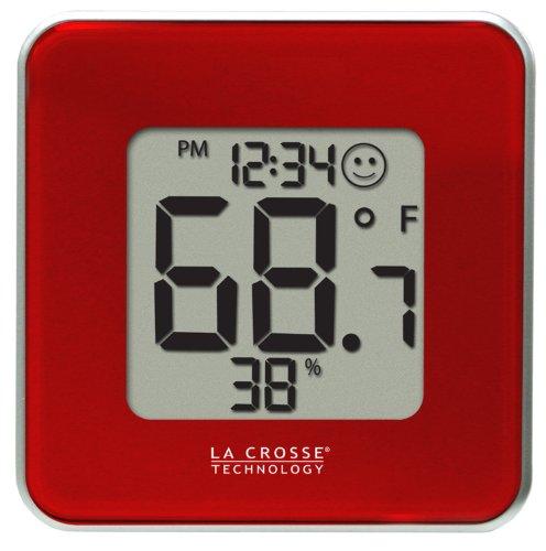 La Crosse Technology 302-604R-TBP Red Indoor Digital Thermometer and Hygrometer Station by La Crosse Technology, Ltd.