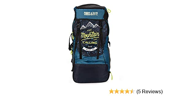 Chris & Kate 50 LTR Rucksack for Trekking Bags, Hiking Bag with Shoe  Compartment (Blue)