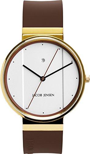 Jacob Jensen Unisex-Adult Analogue Quartz Watch with Rubber Strap JJ778