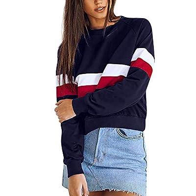 Sannysis Hoodie Damen Bauchfrei Marine Sweatshirt Damen Tumblr Sweatjacke Pullover Langarmshirts Frauen Oversize