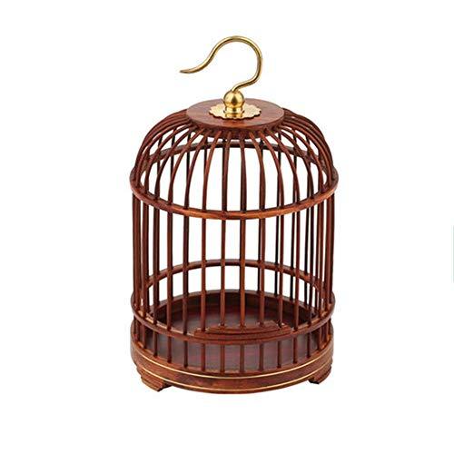 NBRTT Perfetto Appeso Birdcage Lantern, Gabbia di Uccelli in Legno Fatti a Mano, Prodotti per Animali Gabbia Rotonda Classica per Piccoli Uccelli Party Home Garden Decorations