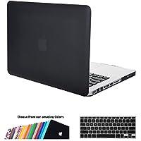 MacBook Pro 13 Custodia Copertina, iNeseon Plastica Cover Rigida Duro Caso, US e EU Versione Tastiera Copertina per Apple MacBook 13/13.3 pollici Alluminio Unibody con CD-ROM Modello: A1278, NON per MacBook Pro 13 con Retina Display(Nera)