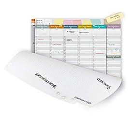 IMUMI Planner settimanale da tavolo – fori per archiviazione in raccoglitore ad anelli – fronte e retro – 3 lingue – 40…