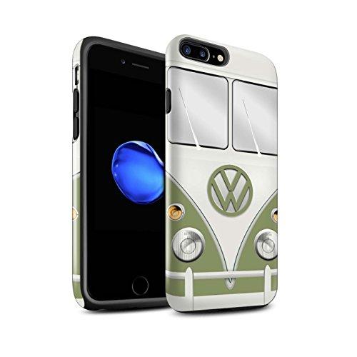 STUFF4 Glanz Harten Stoßfest Hülle / Case für Apple iPhone 7 Plus / Türkisgrün Muster / Retro T1 Wohnmobil Bus Kollektion Mango Grün
