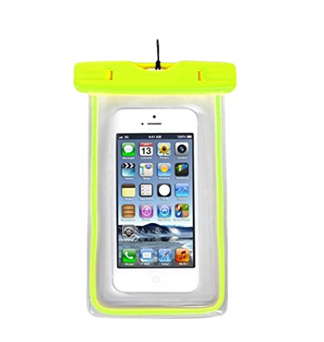 Hosaire 1X Cellulare Impermeabile Universale 6 Pollici Waterproof Cover Case Impermeabile per iPhone SE / 6s / 6s plus / 6 / 6 plus / 5s / 5c / 5, Samsung S7 / S7 edge / S6 / S5 ed altri Smartphone, e Verde