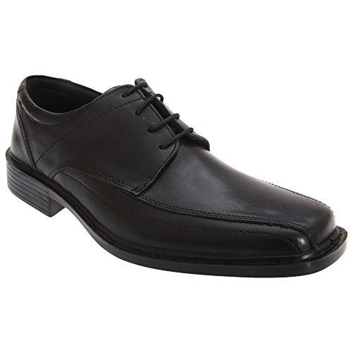 Roamers - Zapatos de Piel Modelo Superlite Diseño con Cordones Hombre Caballero - Vestir/Trabajo (43 EUR/Negro)